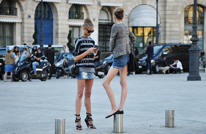 Jak & Jil Anna Selezneva and Anabela Belikova after Valentino Couture