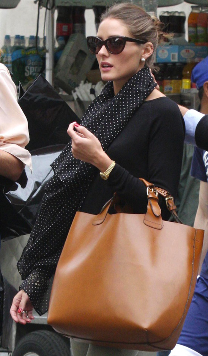 Olivia-Palermo-Tom-Ford-Anouk-TF57-Cate-Eye-Sungasses-Zara-Plaited-Cognac-Shopper-Tote-Bag-1