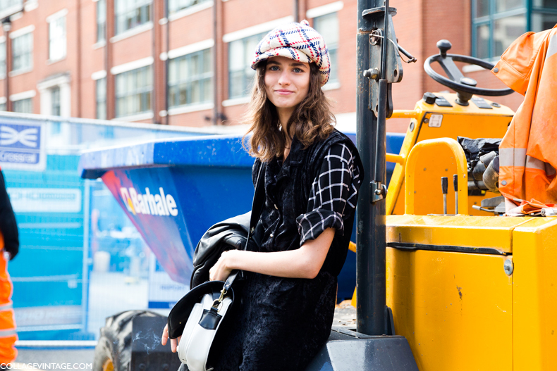 LFW-London_Fashion_Week_Spring_Summer_2014-Street_Style-Say_Cheese-Collage_Vintage-Model-Cup-Plaid_Trend