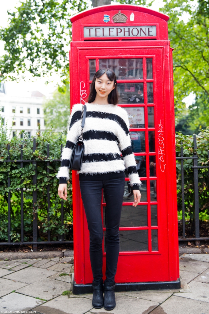 LFW-London_Fashion_Week_Spring_Summer_2014-Street_Style-Say_Cheese-Collage_Vintage-Model_Stripes-Peter_Piloto