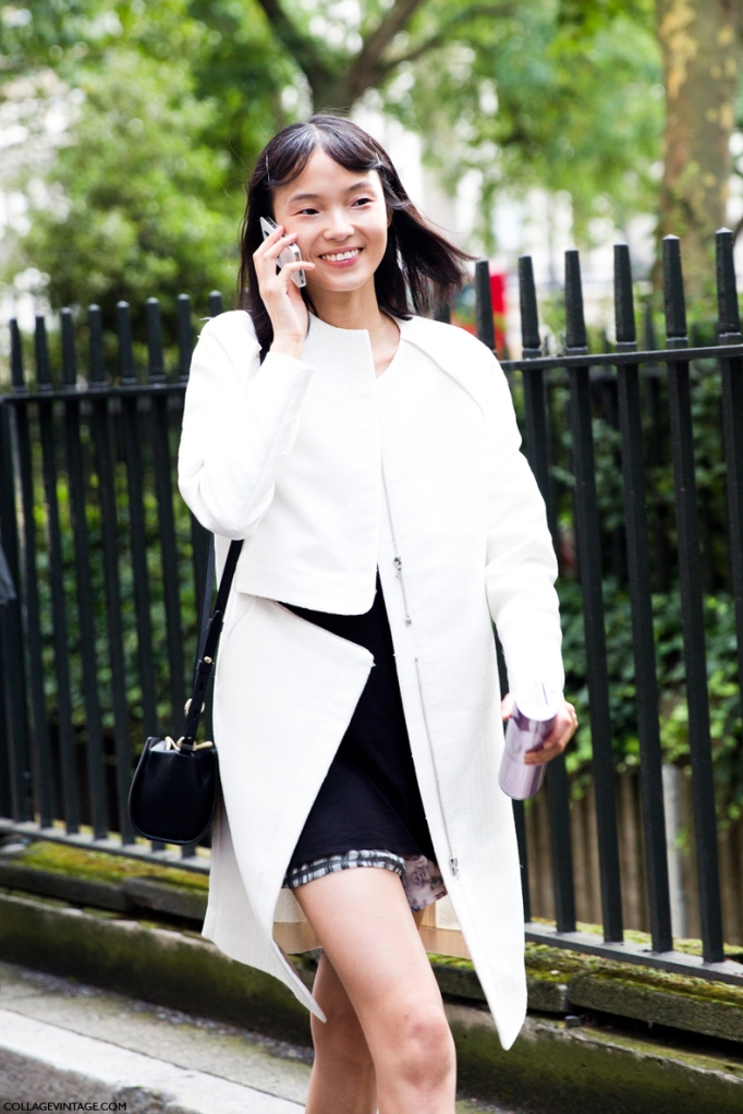 LFW-London_Fashion_Week_Spring_Summer_2014-Street_Style-Say_Cheese-Collage_Vintage-Model_White_Coat-Peter_Piloto