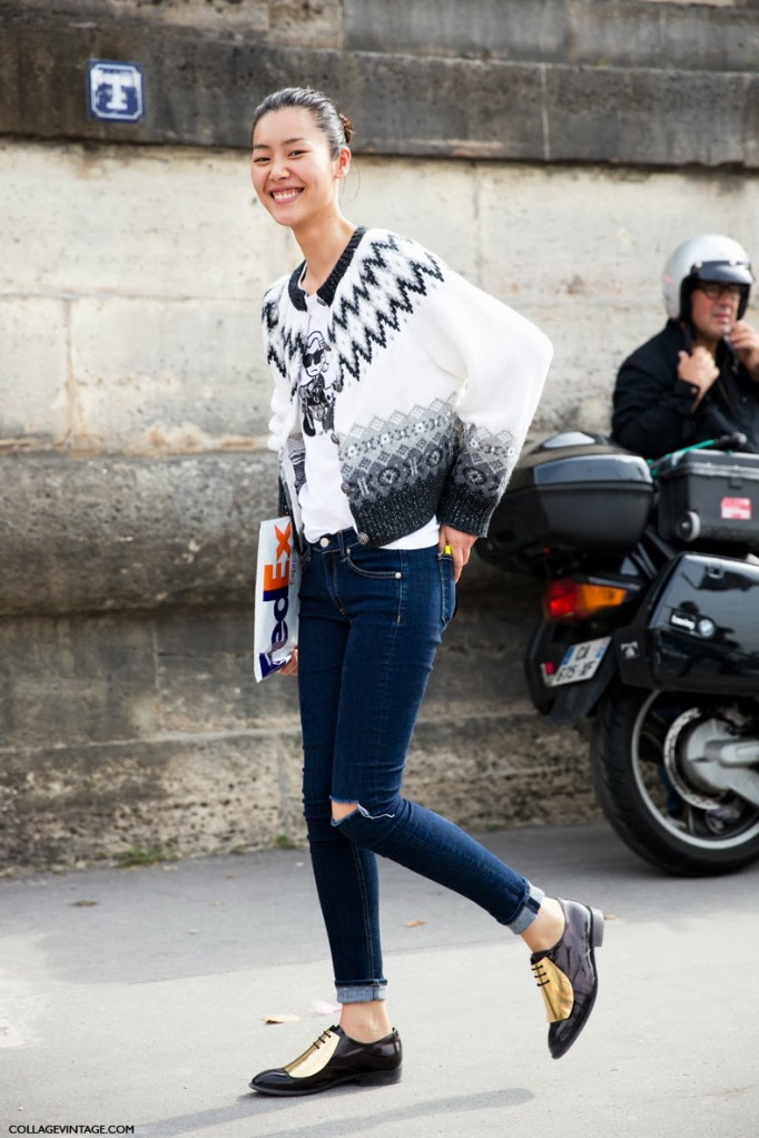 Paris_Fashion_Week-PFW-Street_Style-Collage_Vintage-Celine_Oxfors-Model-
