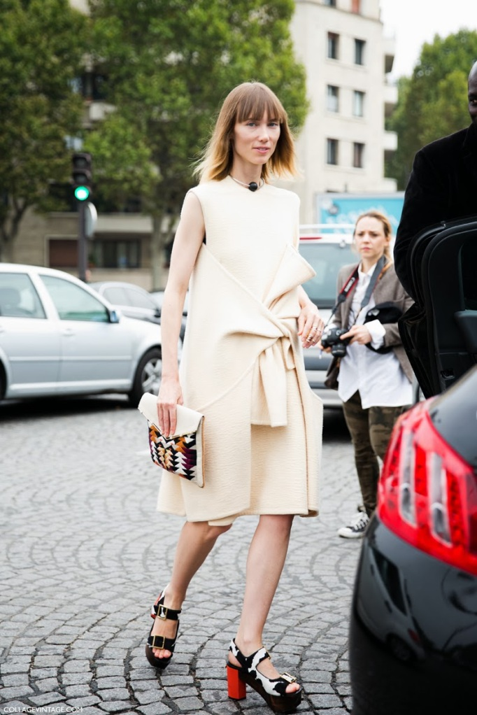 Paris_Fashion_Week-Say_Cheese-Street_Style-collage_Vintage-PFW-Anya_Ziourova-Celine_Dress-1
