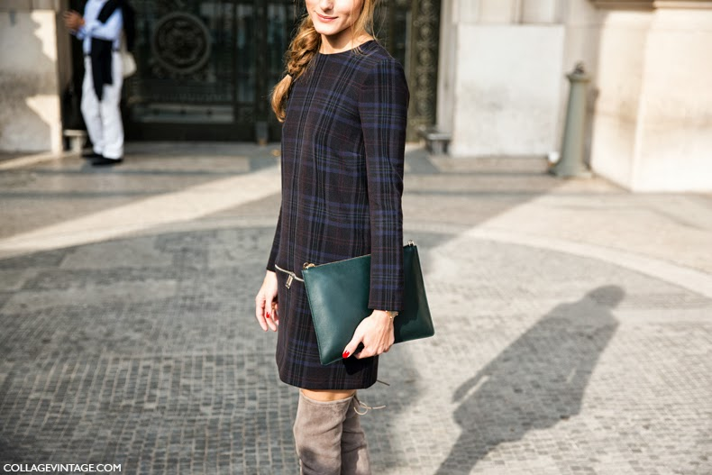 Paris_Fashion_Week_SS14-Street_Style-Say_Cheese-CollageVintage-Olivia_Palermo-Zara_Dress-Over_The_Knee_boots-Braid-Carven-2