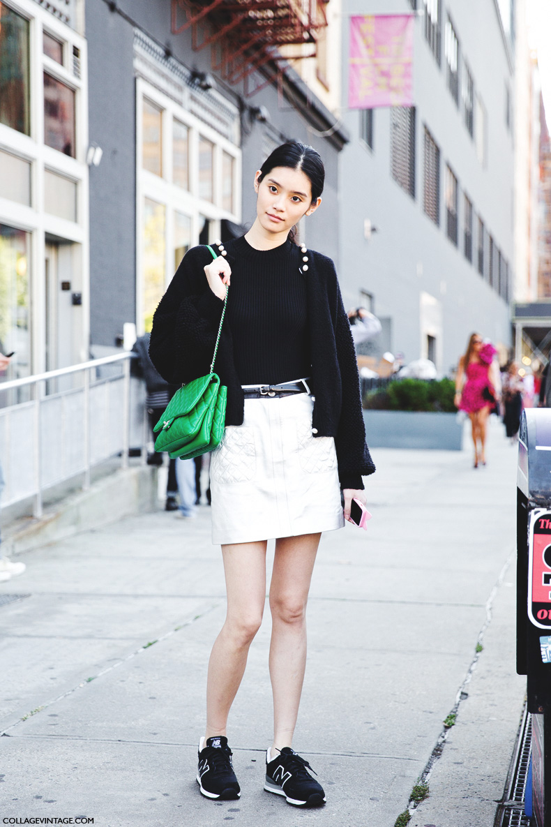 New_York_Fashion_Week_Spring_Summer_15-NYFW-Street_Style-New_Balance-Silver_Skirt-2